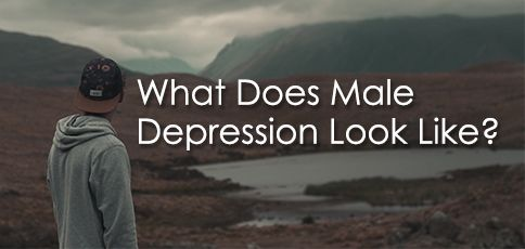 what does male depression look like